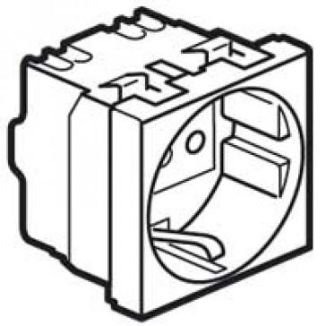 Socket outlet Mosaic - italian - 2P+E 16 A -screw terminals - 1 module - white