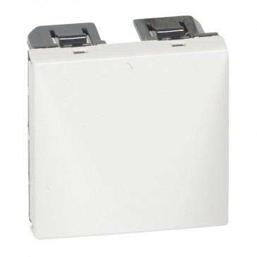 Cable outlet Mosaic - 20 A with cable grip - 2 modules - white