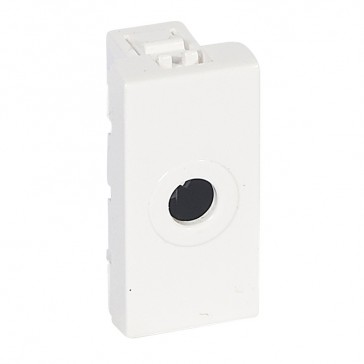 Cable outlet Mosaic - Ø8 mm wire outlet - 1 module - white