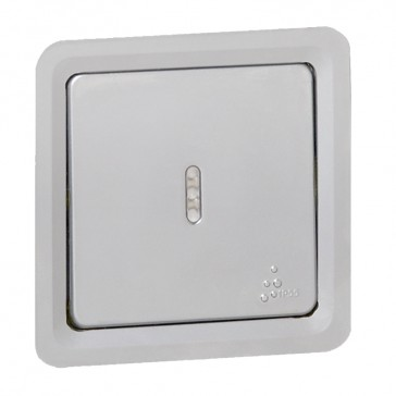 Illuminated 2-way Push-button Soliroc - 6 A 230 V~ - IP55 - NO-NC contact