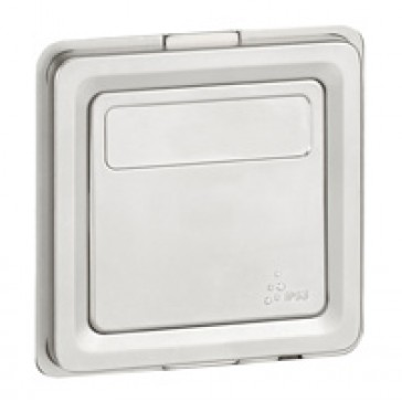 2-way Push-button Soliroc- with label holder - 6 A 230 V~ -IP55 - NO-NC contact