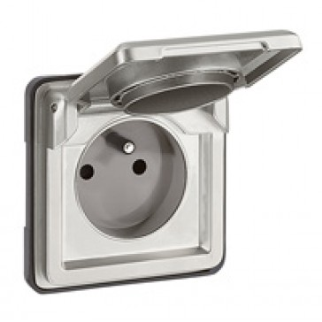 Socket outlet Soliroc - French - 2P + E - automatic terminals and cover - IP55