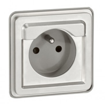 Socket outlet Soliroc - French - 2P + E - automatic terminals no cover - IP20