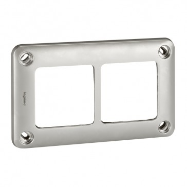 Plate Soliroc - 2 gang - 110 x 181 mm - horizontal or vertical - IK10