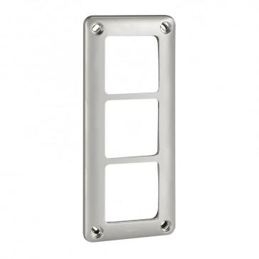 Plate Soliroc - 3 gang - 110 x 252 mm - horizontal or vertical - IK10