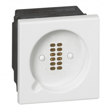 Socket for hand held remote control unit-for Cat.No 0 782 42/44-white antimicrobial