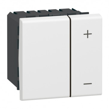 Dimmer switch Mosaic - 0-10 V - for electronic ballasts - 2 modules - white