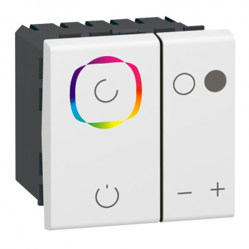 Color lighting dimmer Mosaic - 1 area - white - 2 modules