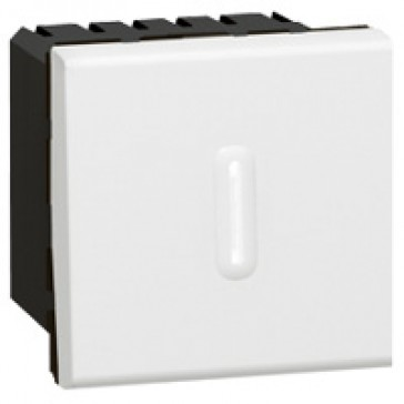 Timer switch Mosaic - 1000 W230 V~ - 2 modules - white