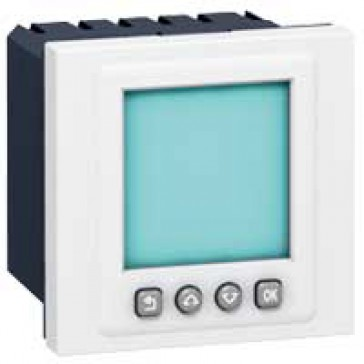 Programmable time switch Mosaic - 6 A 250 V~ - 2 modules - white