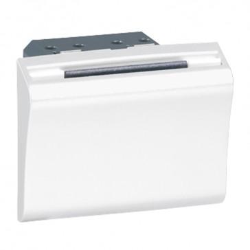 Key fob switch Mosaic 230 V~ - 50/60 Hz - 2 modules - white