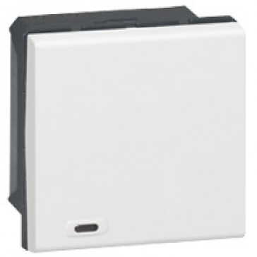 Multifunction switch 1-way Mosaic BUS/SCS for lighting management - 2 modules - white