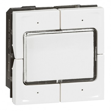 Scenario switch Mosaic - for lighting management - 2 modules - white