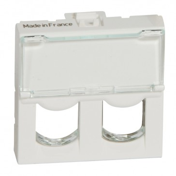 Faceplate Mosaic - for double Systimax connector - 2 modules - white