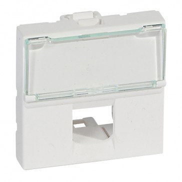 Faceplate Mosaic - for single Keystone connector - 2 modules - white