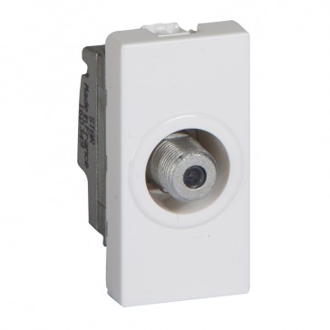 "TV socket Mosaic - single type ""F"" - 1 module - white"