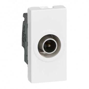 Single TV male socket Mosaic - star 1.5 dB - 1 module - white