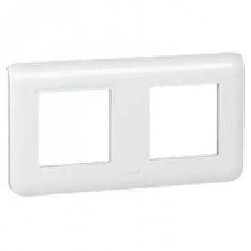 Plate Mosaic - 2 x 2 horizontal modules - white