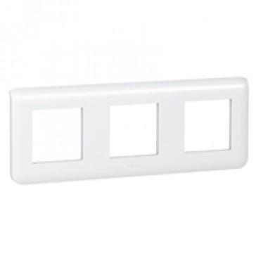 Plate Mosaic - 3 x 2 horizontal modules - white