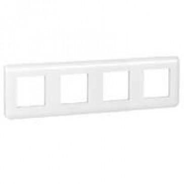 Plate Mosaic - 10 horizontal modules - white