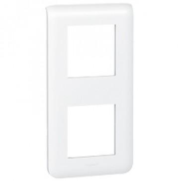 Plate Mosaic - 2 x 2 vertical modules - white