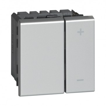 Universal dimmer Mosaic - without neutral - alu - 2 modules