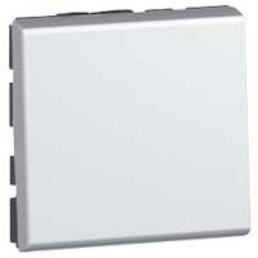 Push-button Mosaic - 6 A 250 V~ - 2 modules - alu