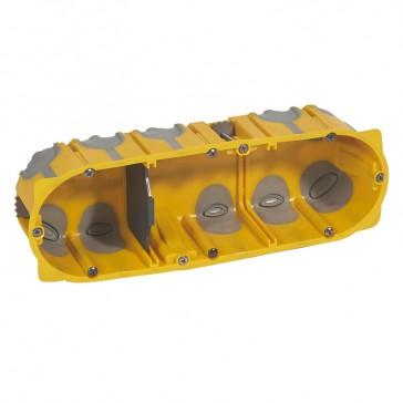 Flush mounting box EcoBatibox - 3 gang depth 50 mm - dry partitions