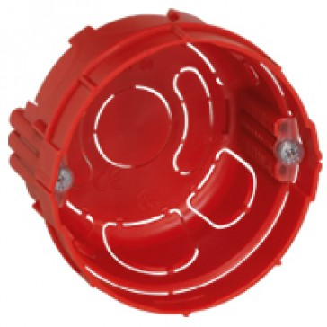 Flush mounting box Batibox - round 1 gang depth 40 mm - screws - masonry
