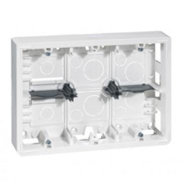 Surface-mounting box Mosaic- 2x6, 2x8 or 2x3x2 modules - depth 46 mm
