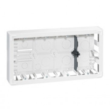 Surface-mounting box Mosaic- 2 x 10 modules - depth 46 mm