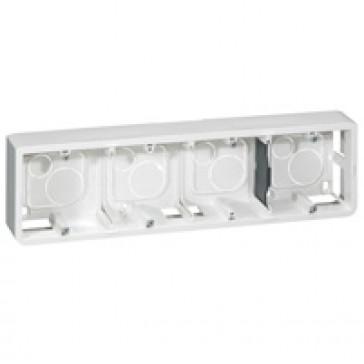 Surface-mounting box Mosaic - 10 or 4 x 2 horizontal modules - depth 40 mm