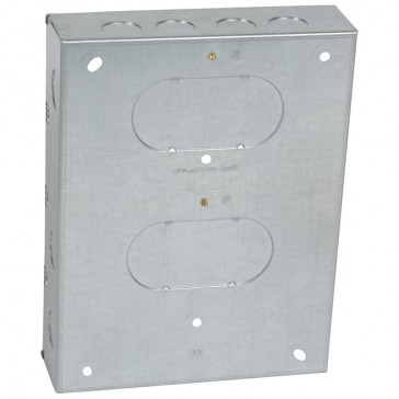 Flush mounting box - for Grid system - 3x3 gang - for 18 modules