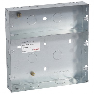 Flush-mounting box - for British standard plates and frames - 3 x 6 modules