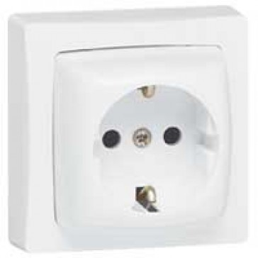 Surface mounting socket outlet - German standard - 2P+E - 16 A 250 V~