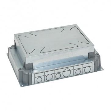 Auto-adjusting backbox for standard or flush version floor boxes - for concrete floor - 8/12 modules