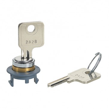 Locking accessory for plastic cover for floor boxes - with key