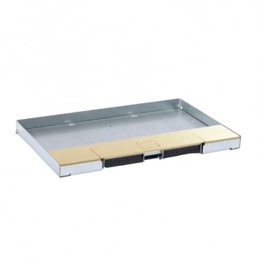 Metal lid for flush version floor boxes 8/12 modules Cat.Nos 088120 / 088123 / 088139 - with brass coating