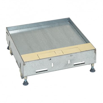 Metal lid for flush version floor boxes 16/24 modules Cat.Nos 088122 / 088125 / 088141 - with brass coating