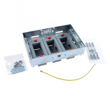 Support kits for flush floor boxes - for sockets in horizontal position - adjustable height - 12 modules