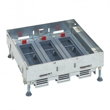 Support kits for flush floor boxes - for sockets in horizontal position - adjustable height - 24 modules