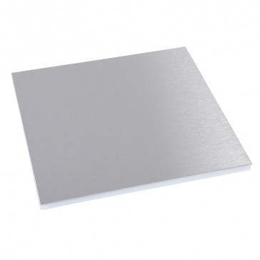 Finishing plate for round version floor boxes - 12/20 modules - stainless steel finish