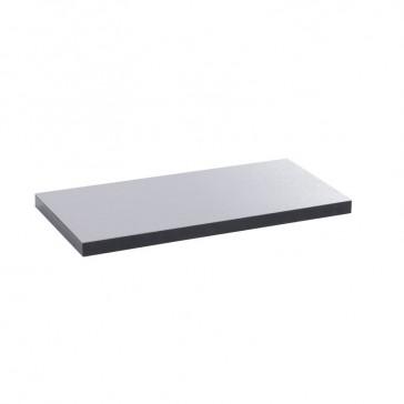 Finishing plate for flush version floor boxes - 8/12 modules - stainless steel finish