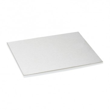 Finishing plate for flush version floor boxes - 16/24 modules - stainless steel finish