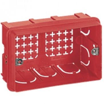 Flush-mounting box - for Vela/Mosaic - 106x71 mm - 3 modules
