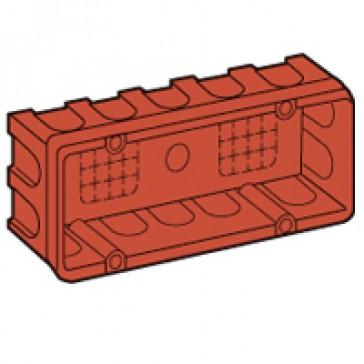 Flush-mounting box Batik - for Vela/Mosaic - 186x71 mm - 6 modules - masonry