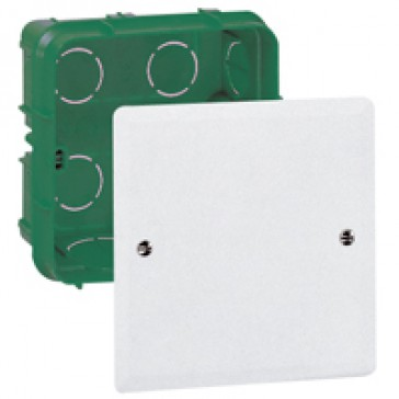 Junction box Batibox - with cover and screws - 85x85x40 mm - for masonry