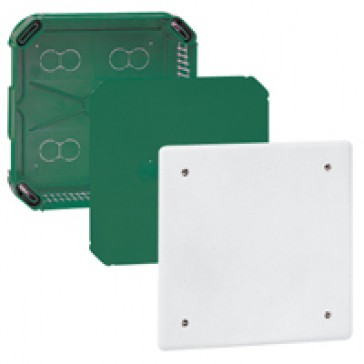 Junction box Batibox - with cover and screws - 175x175x40 mm - for masonry