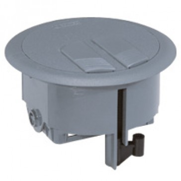 Floor service outlet box - 3 modules
