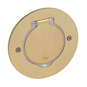 Receptacle for floor socket Arteor/Mosaic - round version - golden brushed